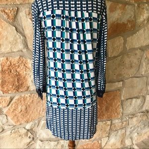 Anthropologie Dresses - Anthropologie Maeve Geometric Print Shirt Dress